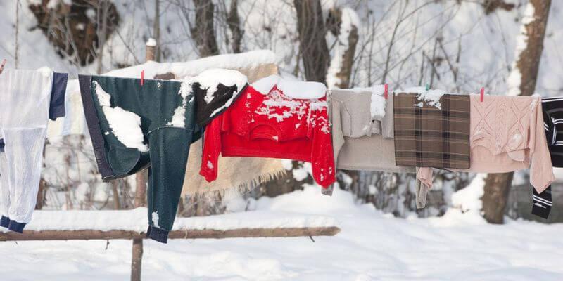 Darum kannst du deine Wäsche auch im Winter draußen trocknen